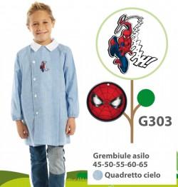 GREMBIULE ASILO MASCHIO G303 QC SPIDERMAN