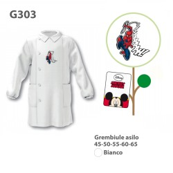 GREMBIULE ASILO MASCHIO G303 BNC SPIDERMAN