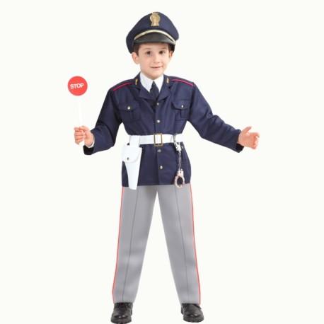 POLICE KIDS Boy Costume Poliziotto Officer legge uniforme RAGAZZI COSTUME BAMBINO NUOVO